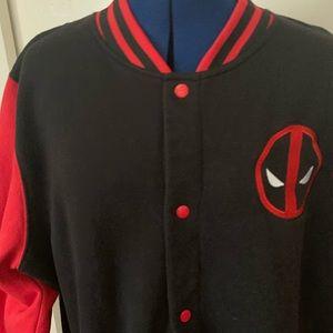 Marvel Comics Deadpool Varsity Jacket Size 14 023